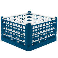 Vollrath 52771 Signature Full-Size Royal Blue 16-Compartment 10 9/16 inch XXX-Tall Plus Glass Rack