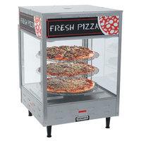 Nemco 6452-2 Double Door Rotating 4-Tier Pizza Merchandiser with 18 inch Racks - 120V
