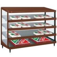 Hatco GRPWS-4818Q Antique Copper Glo-Ray 48 inch Quadruple Shelf Pizza Warmer - 120/208V, 3840W