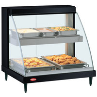Hatco GRCD-2PD Black 32 inch Glo-Ray Full Service Double Shelf Merchandiser - 120V, 1210W