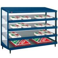 Hatco GRPWS-4824Q Navy Blue Glo-Ray 48 inch Quadruple Shelf Pizza Warmer - 4780W
