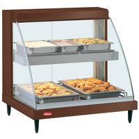 Hatco GRCD-2PD Copper 32 inch Glo-Ray Full Service Double Shelf Merchandiser - 120V, 1210W