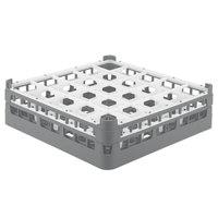 Vollrath 52773 Signature Full-Size Gray 25-Compartment 4 13/16 inch Medium Plus Glass Rack