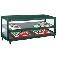 Hatco GRPWS-4818D Hunter Green Glo-Ray 48 inch Double Shelf Pizza Warmer - 120/208V, 1920W