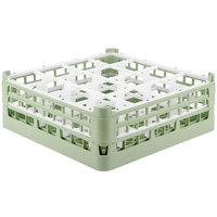 Vollrath 52768 Signature Full-Size Light Green 16-Compartment 6 1/4 inch Tall Plus Glass Rack