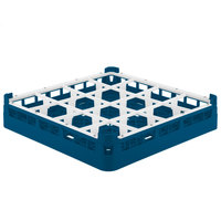 Vollrath 52766 Signature Full-Size Royal Blue 16-Compartment 3 1/4 inch Short Plus Glass Rack
