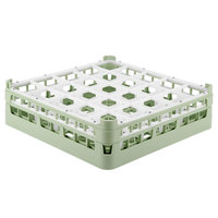 Vollrath 52773 Signature Full-Size Light Green 25-Compartment 4 13/16 inch Medium Plus Glass Rack