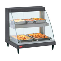 Hatco GRCD-2PD Gray 32 inch Glo-Ray Full Service Double Shelf Merchandiser - 120V, 1210W