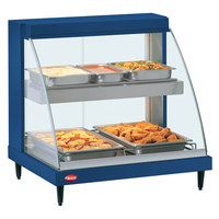 Hatco GRCD-1PD Navy 20 inch Glo-Ray Full Service Double Shelf Merchandiser - 120V, 860V