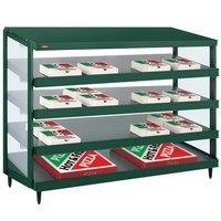 Hatco GRPWS-4818Q Hunter Green Glo-Ray 48 inch Quadruple Shelf Pizza Warmer - 120/208V, 3840W
