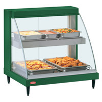 Hatco GRCD-1PD Green 20 inch Glo-Ray Full Service Double Shelf Merchandiser - 120V, 860V