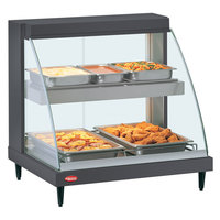 Hatco GRCD-1PD Gray 20 inch Glo-Ray Full Service Double Shelf Merchandiser - 120V, 860V