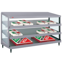 Hatco GRPWS-4818T Granite Gray Glo-Ray 48 inch Triple Shelf Pizza Warmer - 2880W