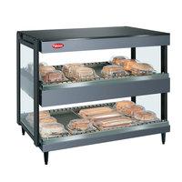 Hatco GRSDH-60D Gray Granite Glo-Ray 60 inch Horizontal Double Shelf Merchandiser