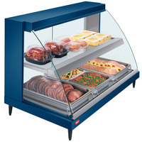 Hatco GRCD-3PD Navy 45 inch Glo-Ray Full Service Double Shelf Merchandiser - 120V, 1710W