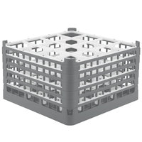 Vollrath 52771 Signature Full-Size Gray 16-Compartment 10 9/16 inch XXX-Tall Plus Glass Rack
