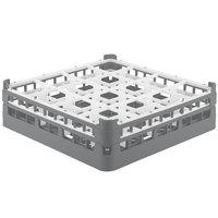 Vollrath 52767 Signature Full-Size Gray 16-Compartment 4 13/16 inch Medium Plus Glass Rack