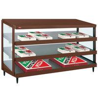 Hatco GRPWS-4818T Antique Copper Glo-Ray 48 inch Triple Shelf Pizza Warmer - 120/240V, 2880W