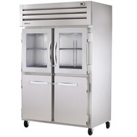 True STR2RPT-2S-2G Specification Series Two Section Pass-Through Refrigerator with Front Solid and Rear Glass Doors - 56 Cu. Ft.