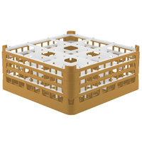 Vollrath 52763 Signature Full-Size Gold 9-Compartment 7 11/16 inch X-Tall Plus Glass Rack