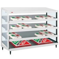 Hatco GRPWS-4818Q Granite White Glo-Ray 48 inch Quadruple Shelf Pizza Warmer - 120/240V, 3840W