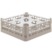 Vollrath 52762 Signature Full-Size Beige 9-Compartment 6 1/4 inch Tall Plus Glass Rack