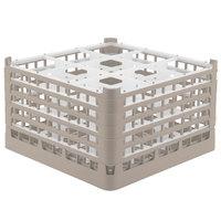 Vollrath 52765 Signature Full-Size Beige 9-Compartment 10 9/16 inch XXX-Tall Plus Glass Rack