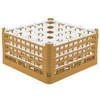 Vollrath 52776 Signature Full-Size Gold 25-Compartment 9 1/16 inch XX-Tall Plus Glass Rack