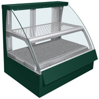 Hatco FSCDH-2PD Green Flav-R-Savor Convected Air Curved Front Display Case with Humidity Control - 120/208V