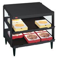 Hatco GRPWS-4818D Black Glo-Ray 48 inch Double Shelf Pizza Warmer - 1920W