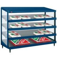 Hatco GRPWS-4824Q Navy Blue Glo-Ray 48 inch Quadruple Shelf Pizza Warmer - 120/208V, 4780W