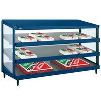 Hatco GRPWS-4818T Navy Blue Glo-Ray 48 inch Triple Shelf Pizza Warmer - 120/208V, 2880W