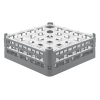 Vollrath 52774 Signature Full-Size Gray 25-Compartment 6 1/4 inch Tall Plus Glass Rack