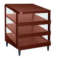 Hatco GRPWS-3624T Antique Copper Glo-Ray 36 inch Triple Shelf Pizza Warmer - 2700W
