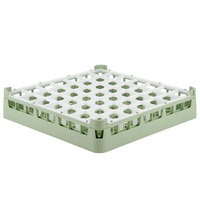 Vollrath 52784 Signature Full-Size Light Green 49-Compartment 3 1/4 inch Short Plus Glass Rack