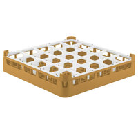 Vollrath 52684 Signature Full-Size Gold 25-Compartment 2 13/16 inch Short Glass Rack