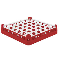 Vollrath 52778 Signature Full-Size Red 36-Compartment 3 1/4 inch Short Plus Glass Rack