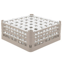 Vollrath 52781 Signature Full-Size Beige 36-Compartment 7 11/16 inch X-Tall Plus Glass Rack