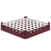 Vollrath 52784 Signature Full-Size Burgundy 49-Compartment 3 1/4 inch Short Plus Glass Rack