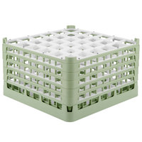 Vollrath 52783 Signature Full-Size Light Green 36-Compartment 10 9/16 inch XXX-Tall Plus Glass Rack