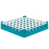 Vollrath 52784 Signature Full-Size Light Blue 49-Compartment 3 1/4 inch Short Plus Glass Rack