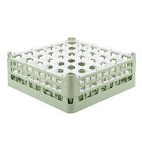 Vollrath 52780 Signature Full-Size Light Green 36-Compartment 6 1/4 inch Tall Plus Glass Rack