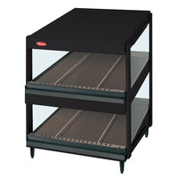 Hatco GRSDS-24D Black Glo-Ray 24 inch Slanted Double Shelf Merchandiser - 120V
