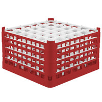 Vollrath 52783 Signature Full-Size Red 36-Compartment 10 9/16 inch XXX-Tall Plus Glass Rack