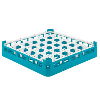 Vollrath 52778 Signature Full-Size Light Blue 36-Compartment 3 1/4 inch Short Plus Glass Rack