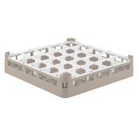 Vollrath 52684 Signature Full-Size Beige 25-Compartment 2 13/16 inch Short Glass Rack