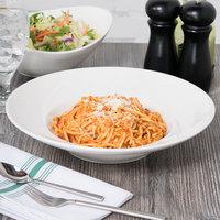 Tuxton ASU-064 San Marino AlumaTux Pearl White 15.5 oz. Pasta / Salad Bowl - 12/Case