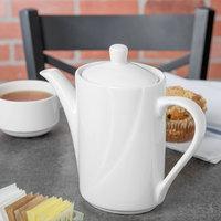 Tuxton ASU-102 San Marino AlumaTux Pearl White 21 oz. Coffee Pot With Lid - 6/Case