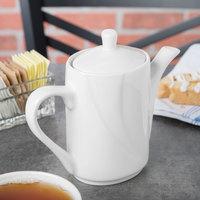 Tuxton ASU-101 San Marino AlumaTux Pearl White 11 oz. Coffee Pot With Lid - 6/Case