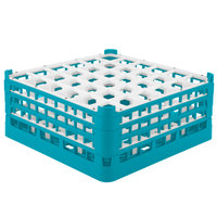Vollrath 52781 Signature Full-Size Light Blue 36-Compartment 7 11/16 inch X-Tall Plus Glass Rack